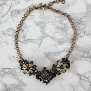 J.CREW Black/Grey/Pink Floral Stone Necklace
